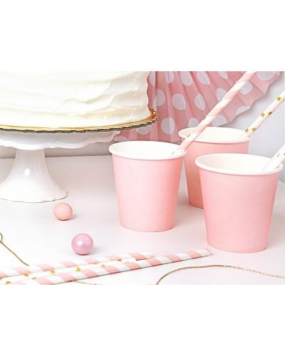 Kubeczki papierowe jasno różowe 180 ml