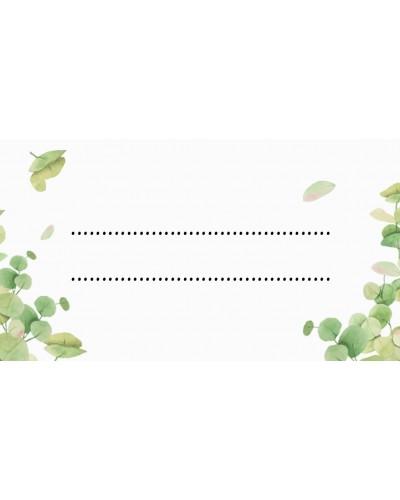 Winietki uniwersalne Zielone Liście 10 szt.