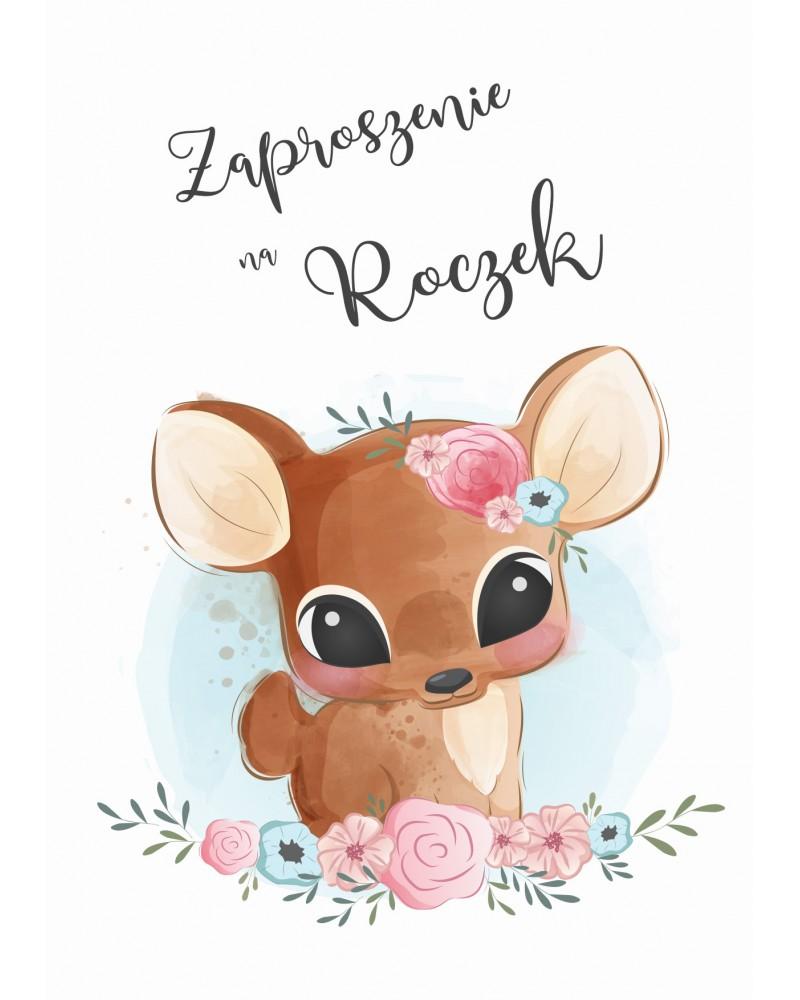 """Zaproszenie na roczek """"Jelonek Bambi"""""""