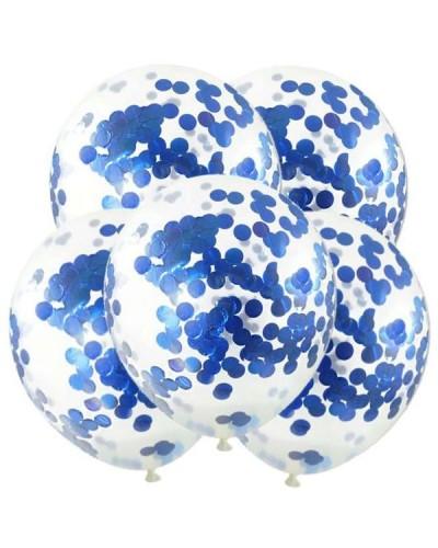 Balony z niebieskim konfetti