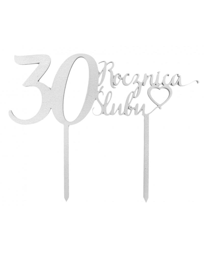 Topper na 30 rocznicę ślubu Srebrny