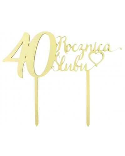 Topper na 40 rocznicę ślubu Złoty