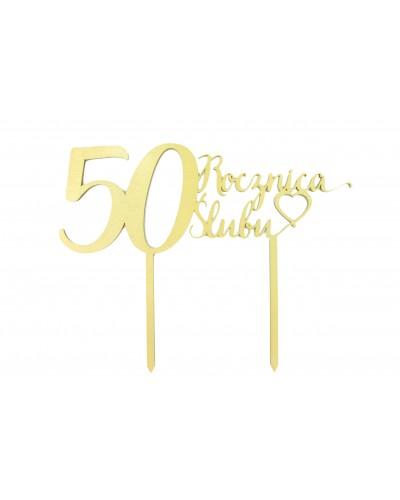 Topper na 50 rocznicę ślubu Złoty