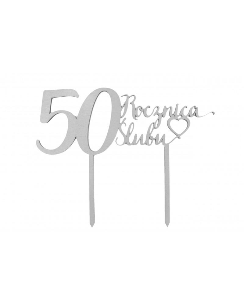 Topper na 50 rocznicę ślubu Srebrny