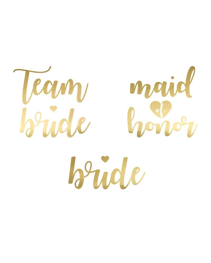 Tatuaże Team Bride Złote