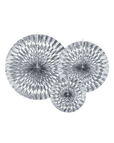 Rozety dekoracyjne srebrne