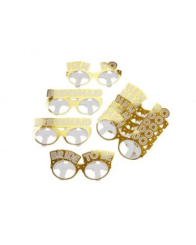 Okulary papierowe na wieczór panieński Woo Hoo Hen Do