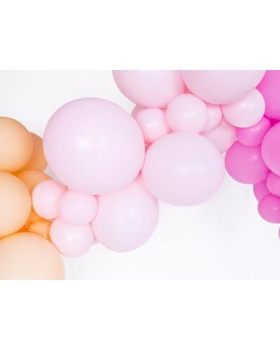 Makaroniki Balony Pastelowe 25szt. Jasny róż