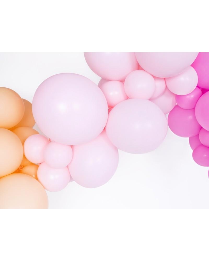 Makaroniki Balony Pastelowe 25szt. jasnopudrowy róż