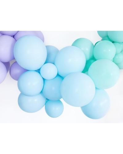Makaroniki Balony Pastelowe 25szt. Błękitne