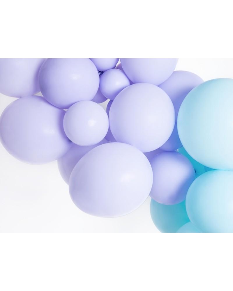 Makaroniki Balony Pastelowe 25szt. Liliowe