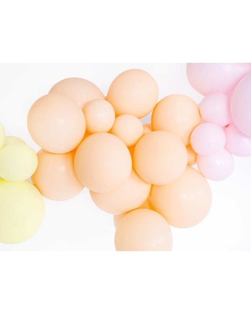 Makaroniki Balony Pastelowe 25szt. Brzoskwiniowe