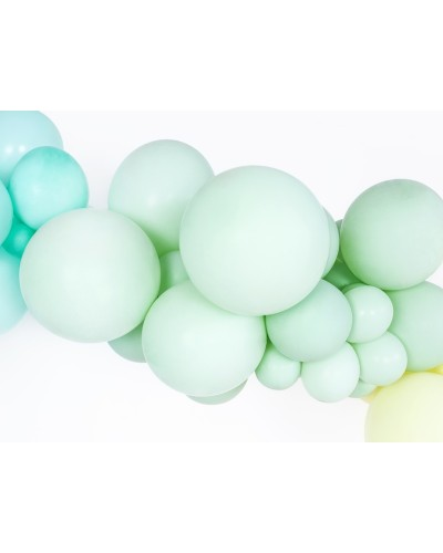Makaroniki Balony Pastelowe 25szt. Kiwi