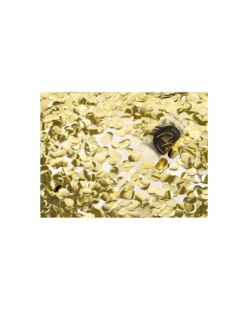 Konfetti wystrzałowe Push Pop Złote