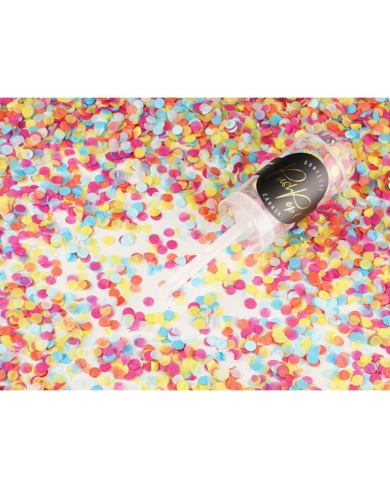 Konfetti wystrzałowe Push Pop mix kolor