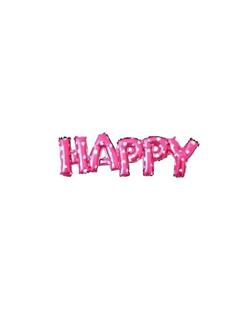 Balon foliowy Happy Różowy