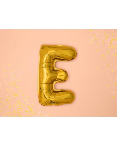 Balon foliowy Literka E Złoty
