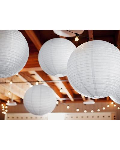 Lampion abażur papierowy 25cm Biały