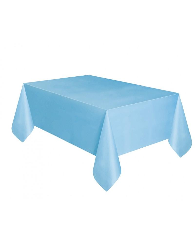 Obrus plastikowy błękitny