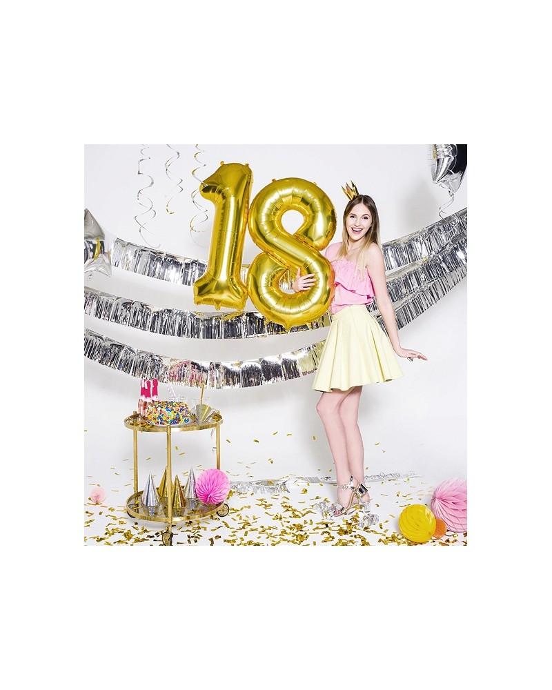 """Balony foliowe złote na """"18"""" 100cm"""