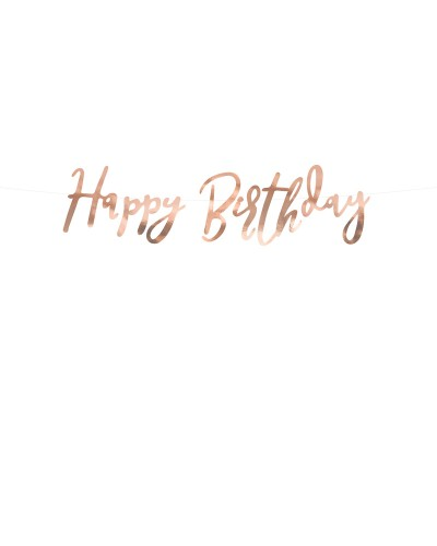 Baner Happy Birthday rose gold