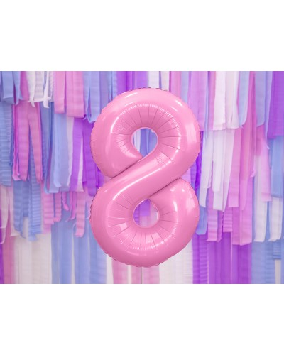 """Balon foliowy różowa cyfra """"8"""" 86cm"""