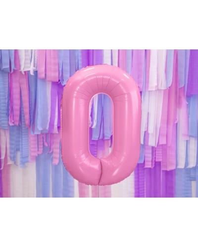 """Balon foliowy różowa cyfra """"0"""" 86cm"""