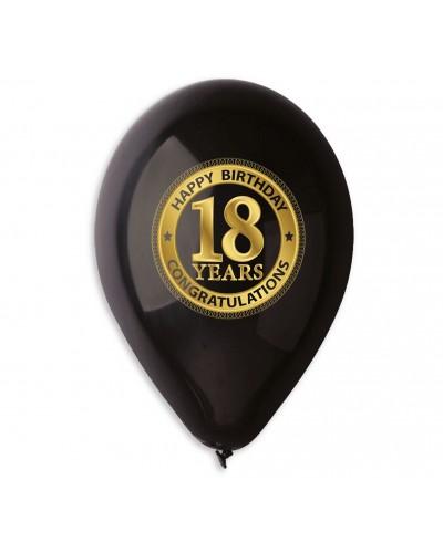 Balony premium na 18 urodziny, 5 szt.
