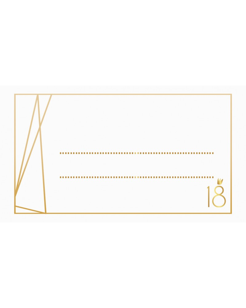 Winietki Kolekcja Gold Geometric 10 szt.