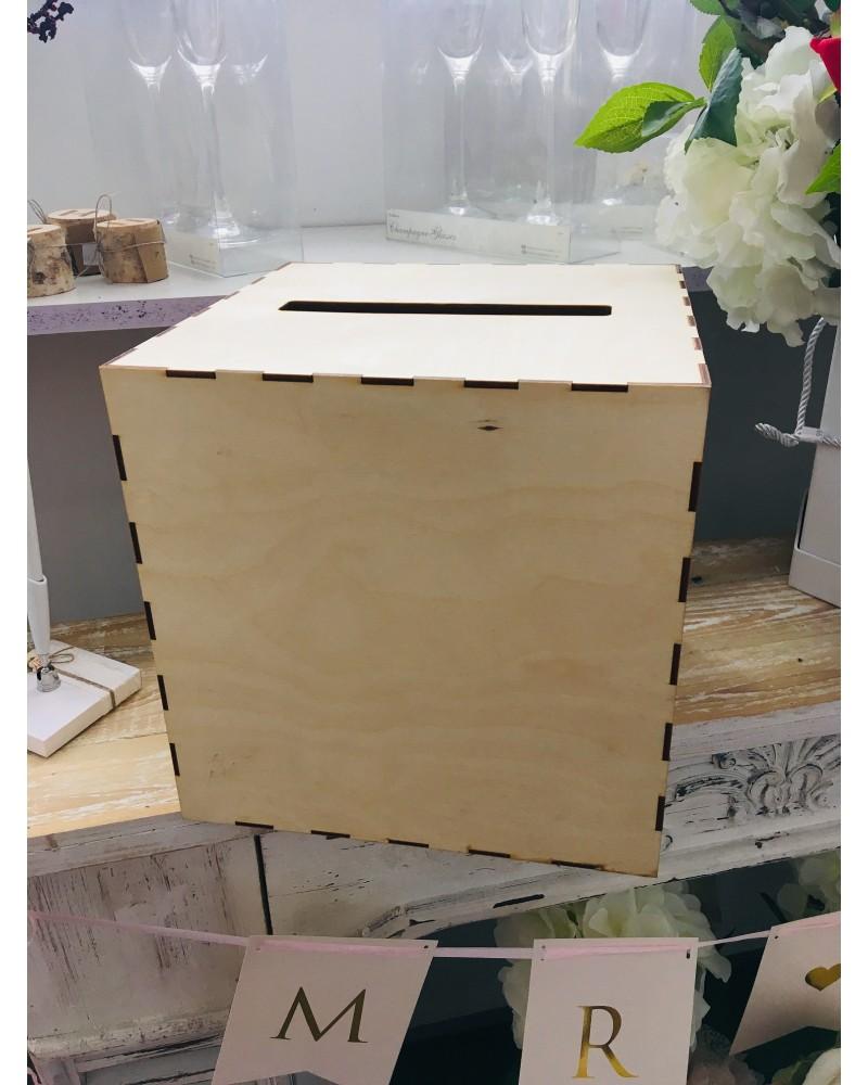 Pudełko na koperty Drewniane, zwykłe 25x25x25cm