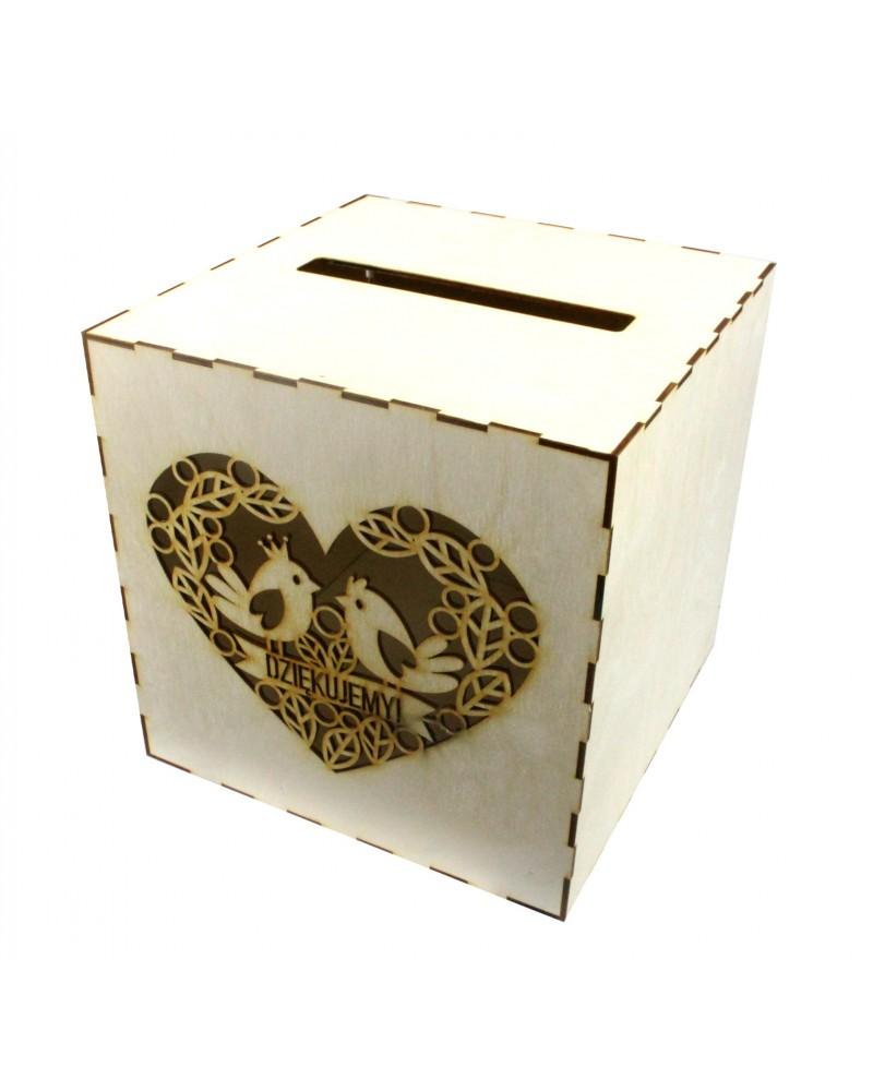 Pudełko na koperty drewniane Personalizowane Wzór 1