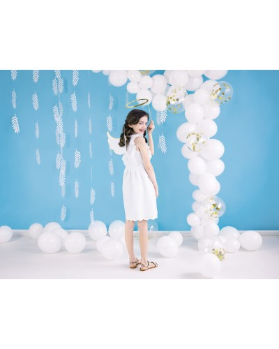 """Balony pastelowe 10"""" Białe"""