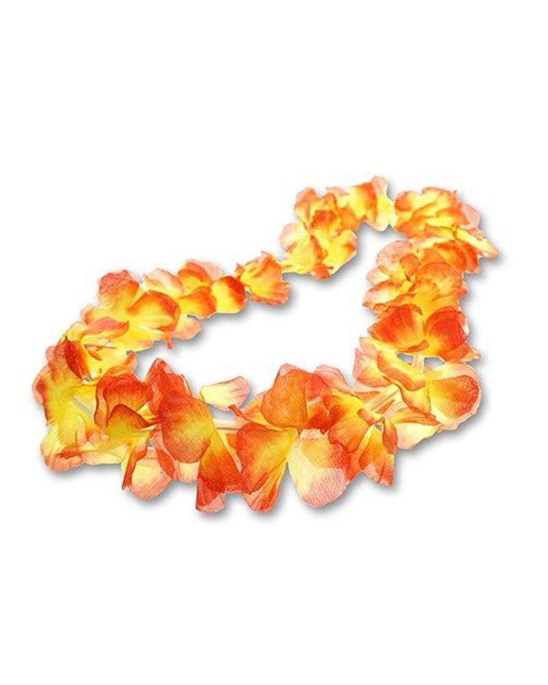 Naszyjnik hawajski pomarańczowo-żółty