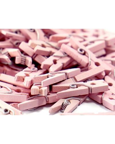 Klamerki, mini spinacze różowe 3cm