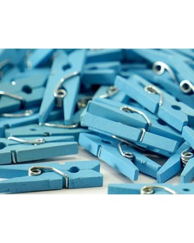 Klamerki, mini spinacze niebieskie 3cm