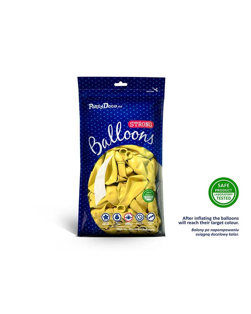 "Balony pastelowe 10"" Żółte"