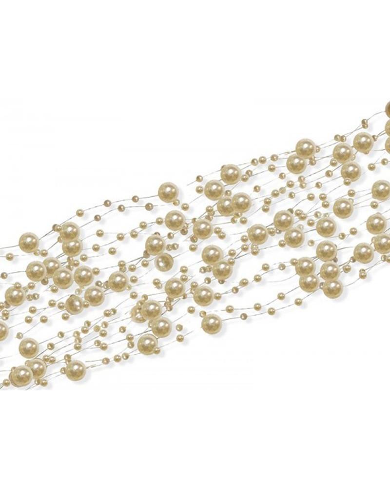Girlandy perłowe 150 cm 5szt Ecru