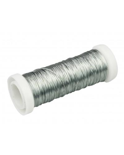 Drut florystyczny nawój 30m srebrny