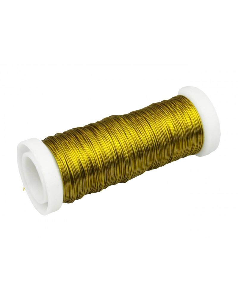 Drut florystyczny nawój złoty
