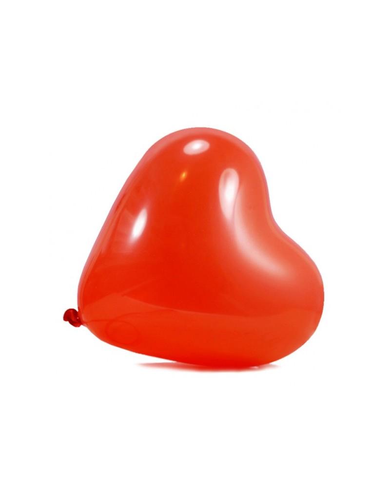 Balony w kształcie serca czerwone