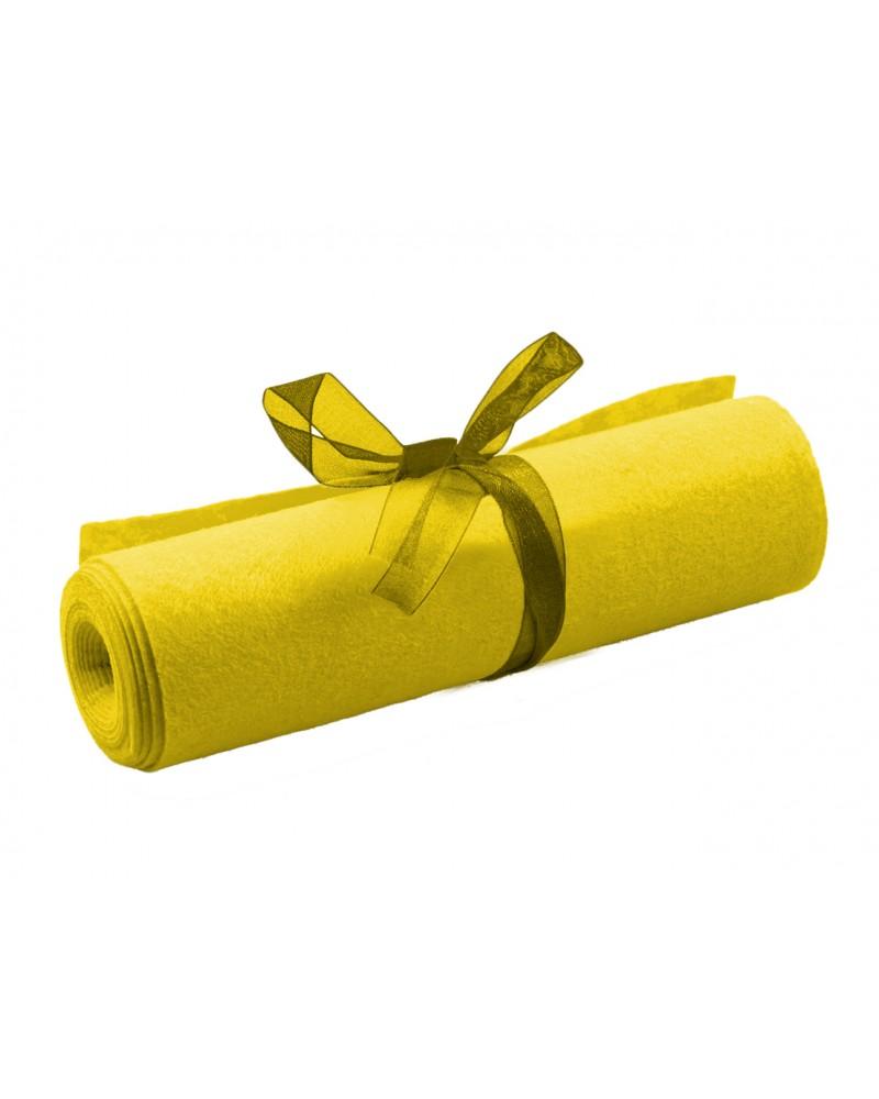 Filc dekoracyjny rolka żółty