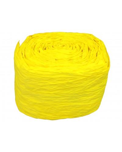 Wstążka marszczona żółta papierowa 8cm/10m