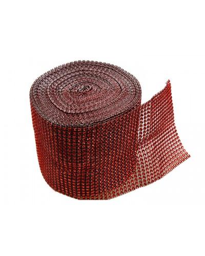 Taśma cyrkonie 9 metrów /12cm czerwona