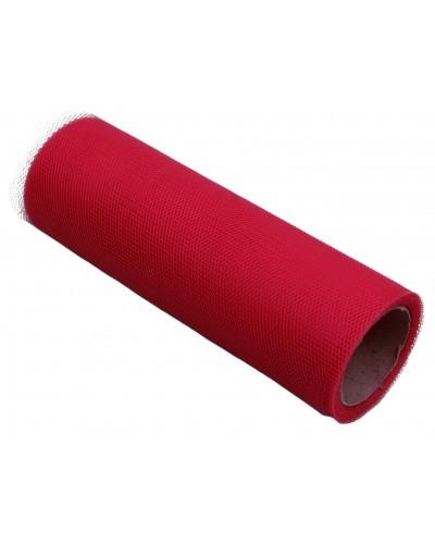 Tiul dekoracyjny 15cm czerwony