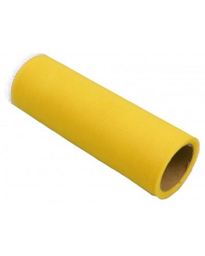 Tiul dekoracyjny 15cm żółty