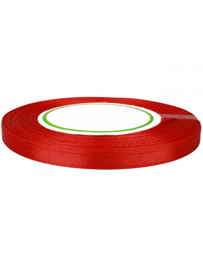 Wstążka satynowa 6mm czerwona