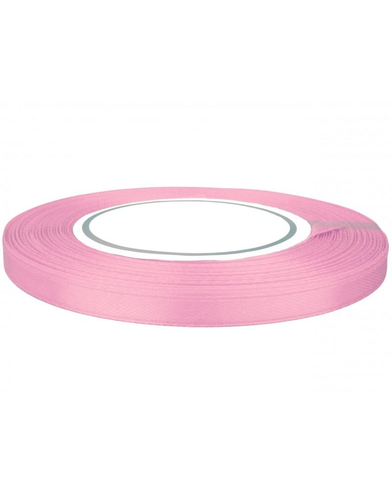 Wstążka satynowa 6mm różowa