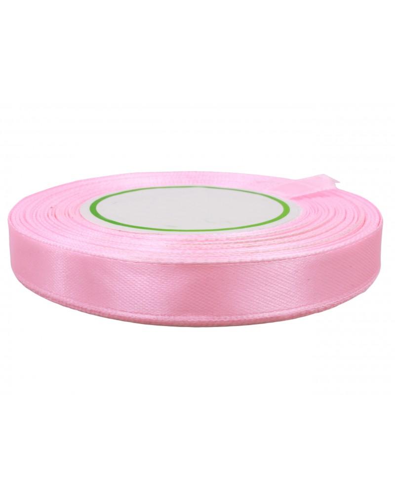 Wstążka satynowa 12mm różowa