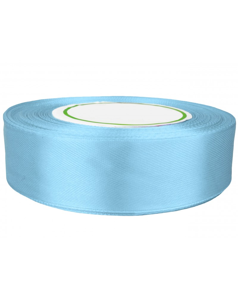 Wstążka satynowa 25mm błękitna