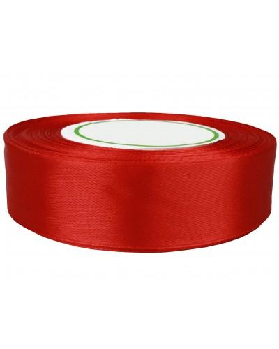 Wstążka satynowa 25mm czerwona